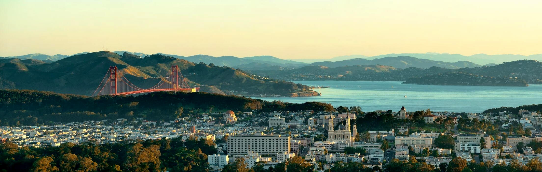 panoramic view of the San Francisco Bay Area